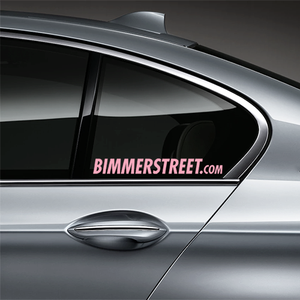 BIMMERSTREET Window Decal - Pink