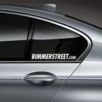 BIMMERSTREET Window Decal - White