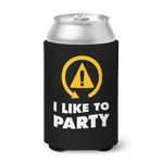 DSC - I Like To Party Can Koozie - Black