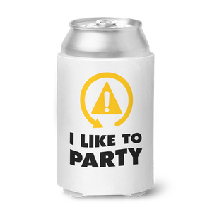 DSC - I Like To Party Can Koozie - White