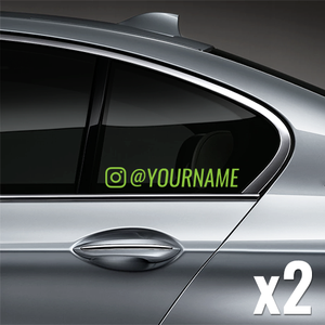 Instagram Username Window Decal (Customized) - Lime