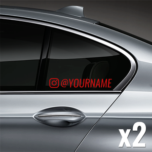 Instagram Username Window Decal (Customized) - Red