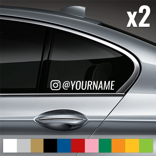 Instagram Username Window Decal (Customized)