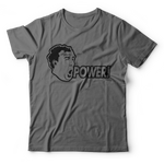 "Jeremy Clarkson ""POWER!"" T-Shirt - Gray"