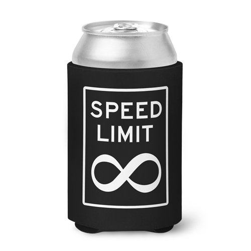 No Speed Limit Can Koozie - Black