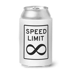 No Speed Limit Can Koozie - White