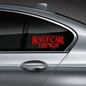Racecar Things Window Decal