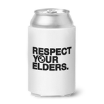 Respect Your Elders BMW Can Koozie - White