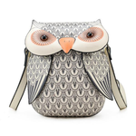 Cartoon Owl Shape Shoulder Bag Creative Crossbody Bag Phone Bag