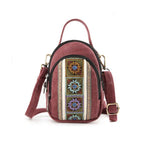 Vintage Canvas Casual Shoulder Bag Crossbody Bag Phone Bag For Women