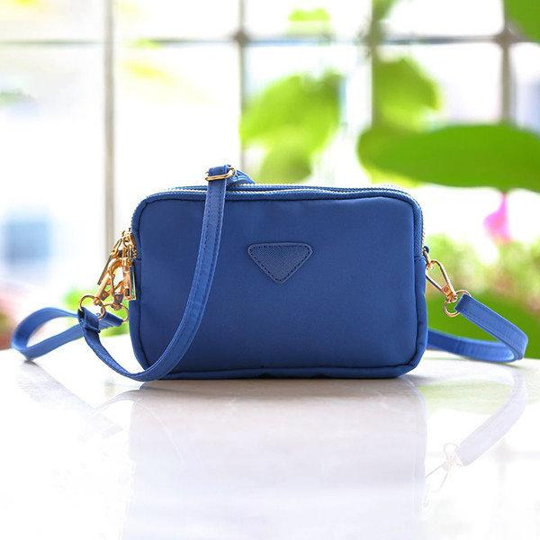 Women Water Resistant Multi-slot Clutch Bags Nylon Solid Mini Crossbody Bags