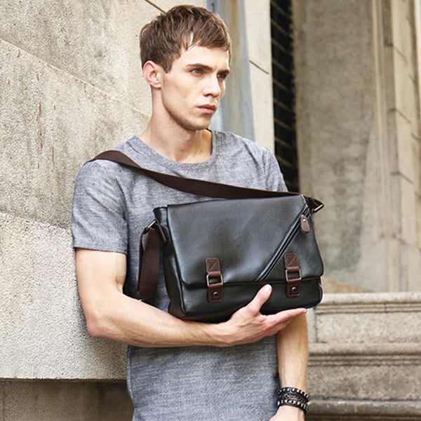 Message Bag Solid Business Crossbody Bag Shoulder Bag For Men