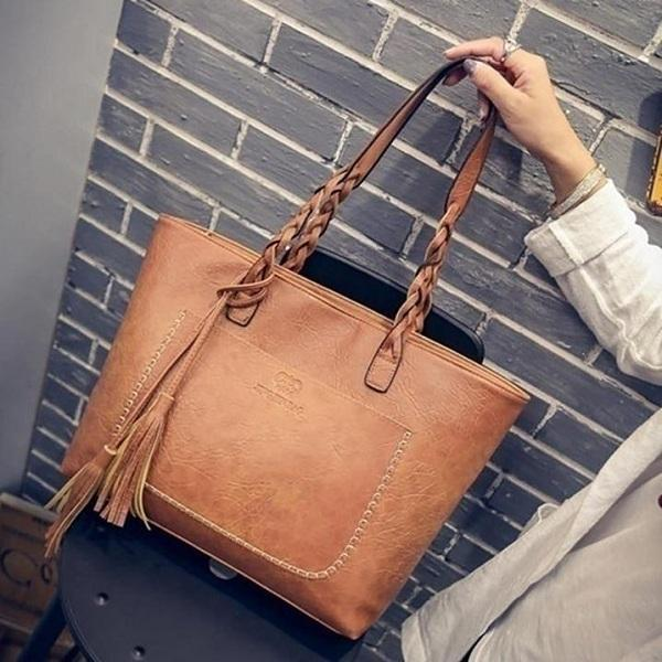 Women Messenger Bags Vintage Shoulder Tote Bags Casual Tassel Handbags