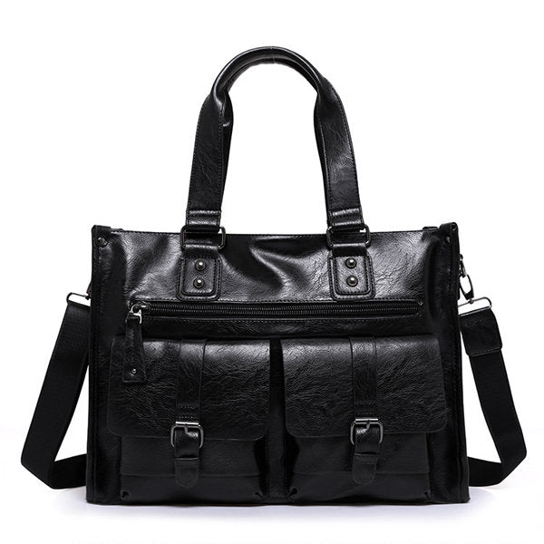 Business Briefcase Vintage Big Capacity Crossbody Bag Handbag For Men