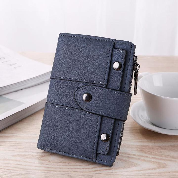 Womans Zipper Purse Wallet Leather