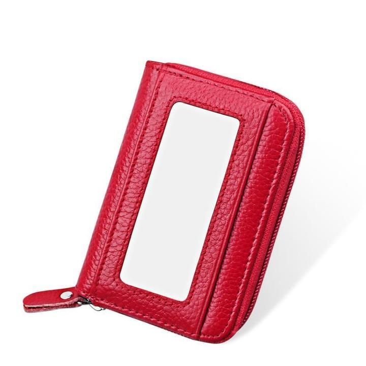 RFID Genuine Leather Card Holder