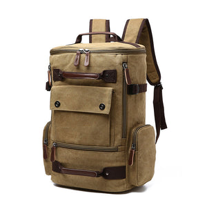 Canvas Backpack Big Capacity Casual Multi-functional Travel Bag For Men