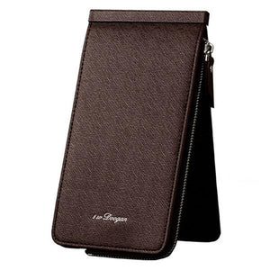 PU Leather Trifold Wallet 26 Card Slots Casual Business Card Pack For Men
