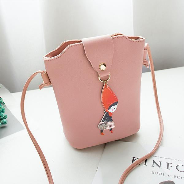 Lucky Star Bucket Bag Little Girl Tassel Shoulder Phone Bag For Women