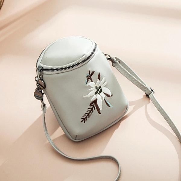 Women Embroidery Phone Bag