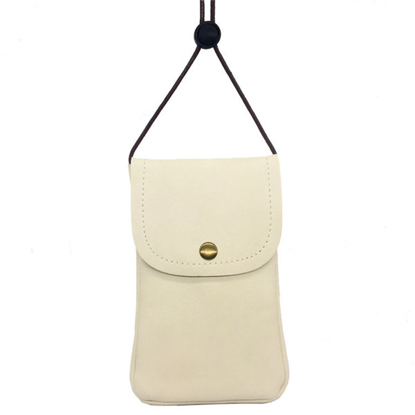 5.5inch Casual Lightweight Pu Leather Phone Bag Shoulder Bag
