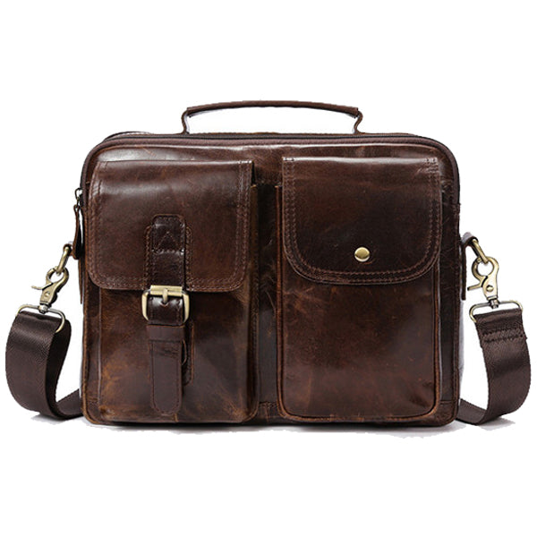 Vintage Genuine Leather Business Shoulder Bag Crossbody Bag