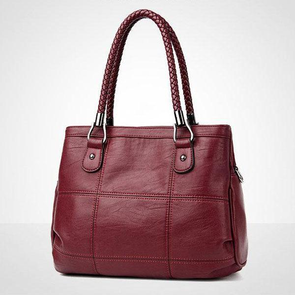 Casual Women Sheepskin Leather Shoulder Bag