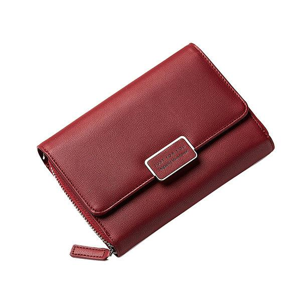 Women Faux Leather Multifunctional Wallet 6 Inches Shoulder Phone Bags