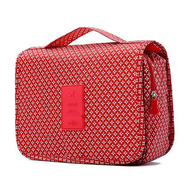 Women Travel Cosmetic Makeup Storage Hanging Organizer Bag Case