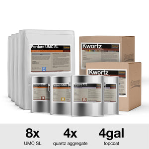 Decorative Quartz Urethane Concrete Floor Coating Kit | 500 Sq. Ft.
