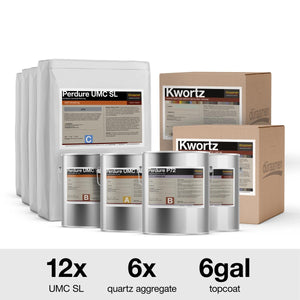 Decorative Quartz Urethane Concrete Floor Coating Kit | 750 Sq. Ft.