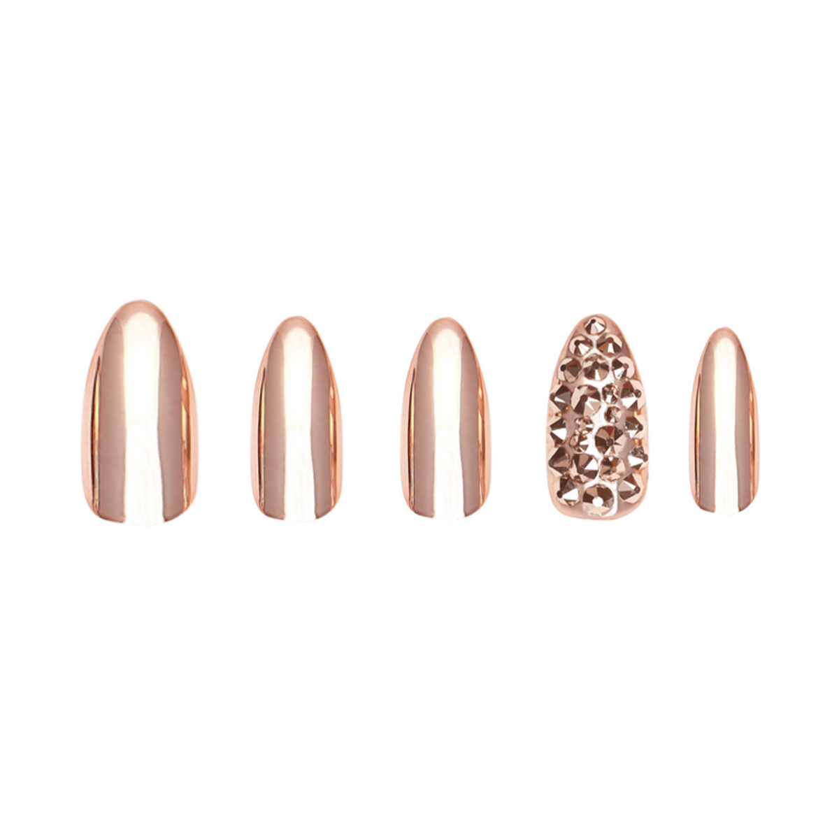 Rose Gold Stiletto Accents