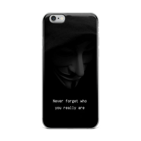 "Funda iPhone ""Never forget who you really are"""