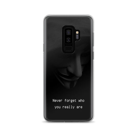 "Funda Samsung ""Never forget who you really are"""