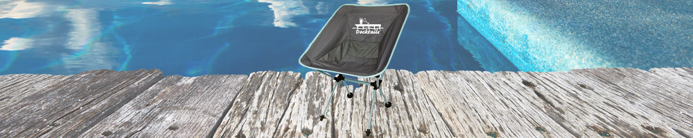 Docktails accessories including travel chairs, tiki toss ring game, pint glasses and more