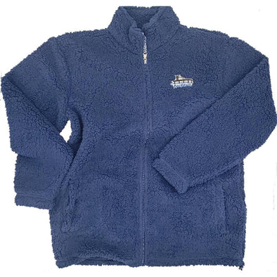 Docktails Sherpa Men's Full Zip in Navy