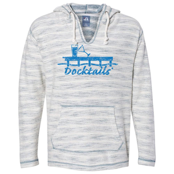 Docktails Unisex Baja Hoodie in Ocean Wave, perfect for beach bums like us
