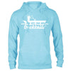 Docktails Unisex Pullover Hoodie in Ocean, perfect for cool dockside evenings at your favorite seafood shack or beach bar