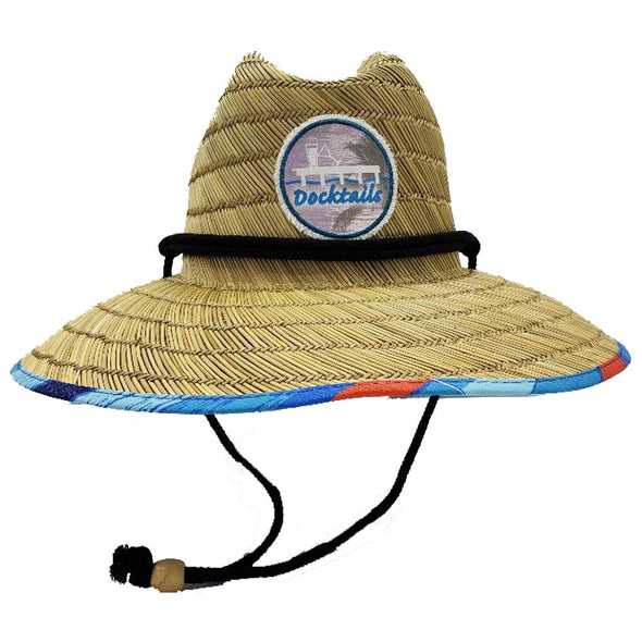 Docktails Ocean Sun Straw Lifeguard Hat, perfect for adventures at your favorite beach bar or dockside pub