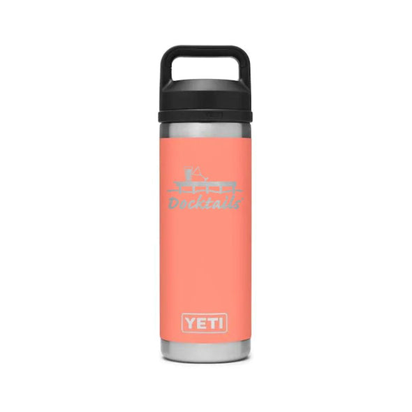 Docktails YETI Rambler 18oz Bottle With Chug Cap - Coral