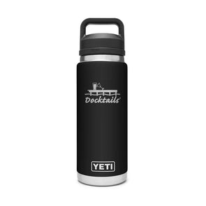 Docktails YETI Rambler 26oz Bottle With Chug Cap - Black