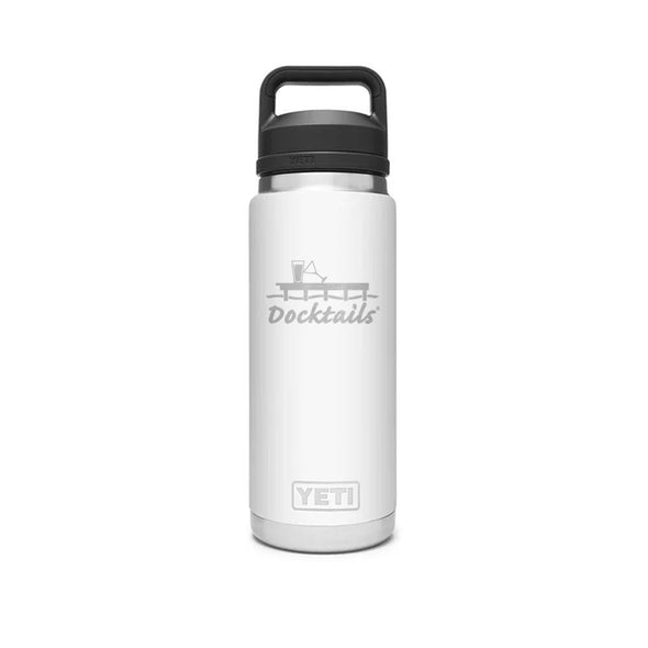 Docktails YETI Rambler 26oz Bottle With Chug Cap - White
