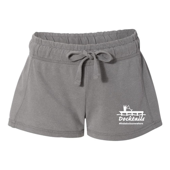 Docktails Women's Relax French Terry Shorts - Grey