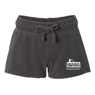 Docktails Women's Relax Shorts in Charcoal, perfect for summer bonfires and beach bars