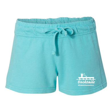 Docktails Women's Relax French Terry Shorts - Lagoon