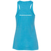 Docktails Ladies Racerback Tank in Blue Hawaiian, perfect for beach bars and beach volleyball