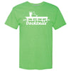 Docktails Men's Short Sleeve Tee in Margarita, perfect for beach volleyball and dockside margaritas