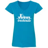 Docktails Women's Short Sleeve T-Shirt in Caribbean Sapphire, perfect for all your seafood shack and beach bar adventures