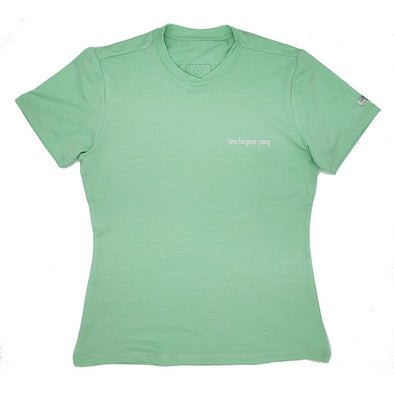 Women's Malibu Short Sleeve Swim Shirt with Have Fun Grow Young logo and UPF50 sun protection