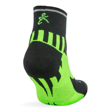 Load image into Gallery viewer, Enduro Reflective Quarter Socks - Black Neo Green (Men's)